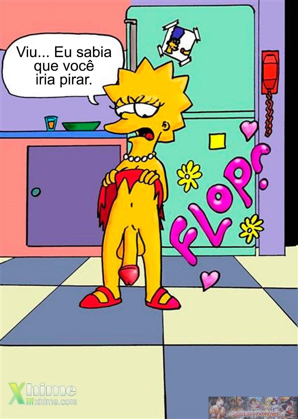 Lisa Simpson tem um Pênis – Quadrinhos Eróticos
