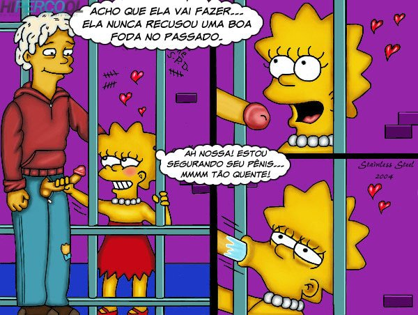 Visita da Lisa – The Simpson – Quadrinhos Eróticos