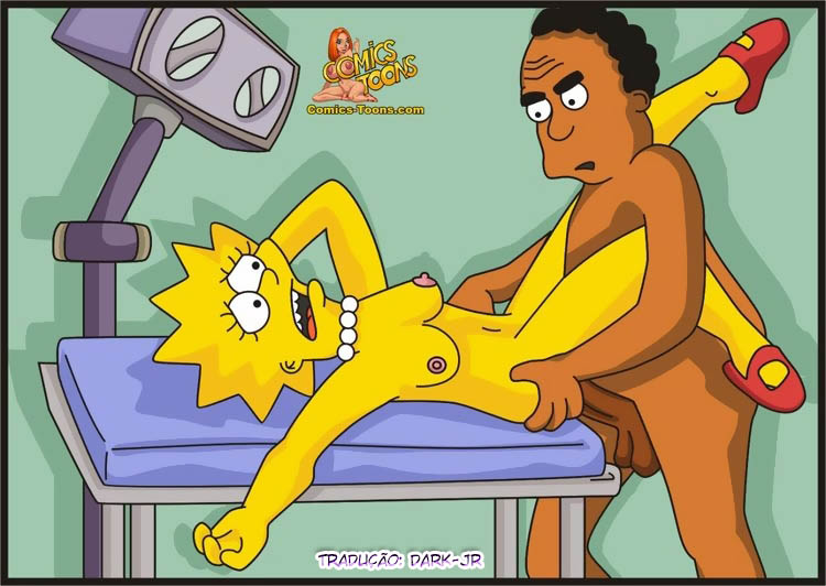 Levando a Lisa no Doutor – The Simpsons – Comics Quadrinhos