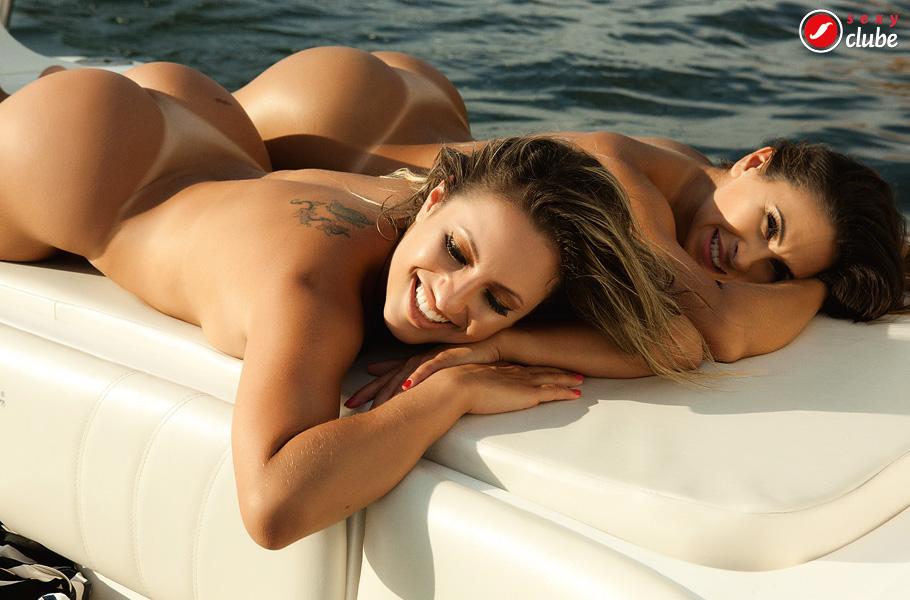 Fernanda Brum e Camila Remedy peladinhas na Sexy
