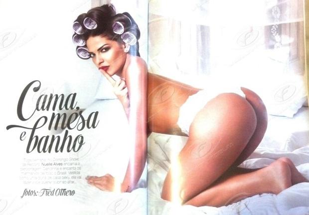 Nuelle Alves – A Dona Candinha pelada nua na Playboy 2015