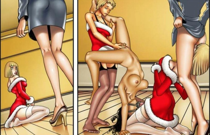 Santa's Little Humpers – Quadrinhos Shemale