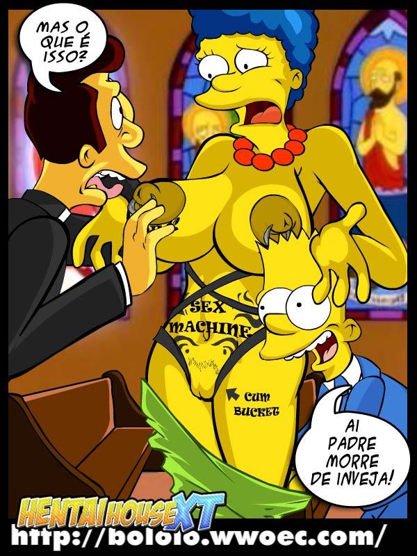 quadrinhos er ticos dos simpsons hq comics