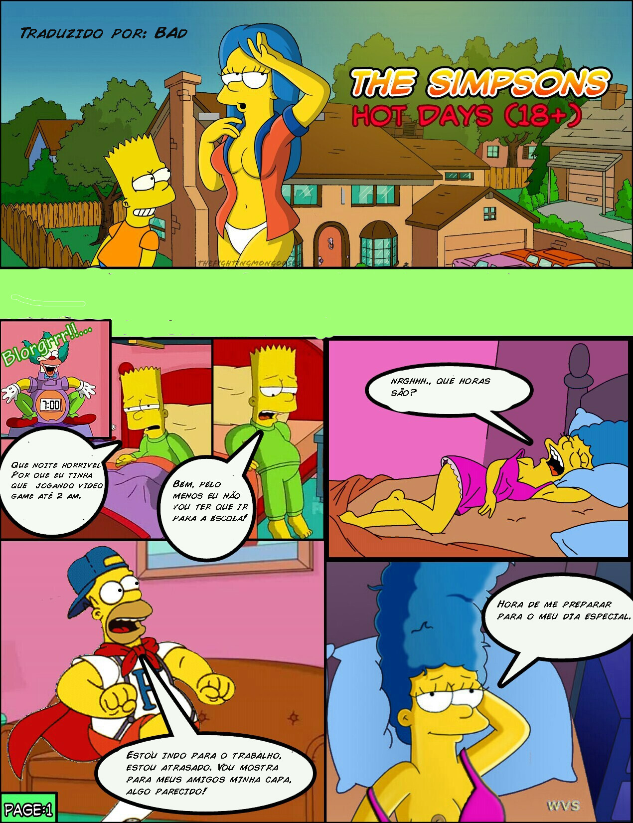 Os Simpsons – Hot days – Quadrinhos Eróticos