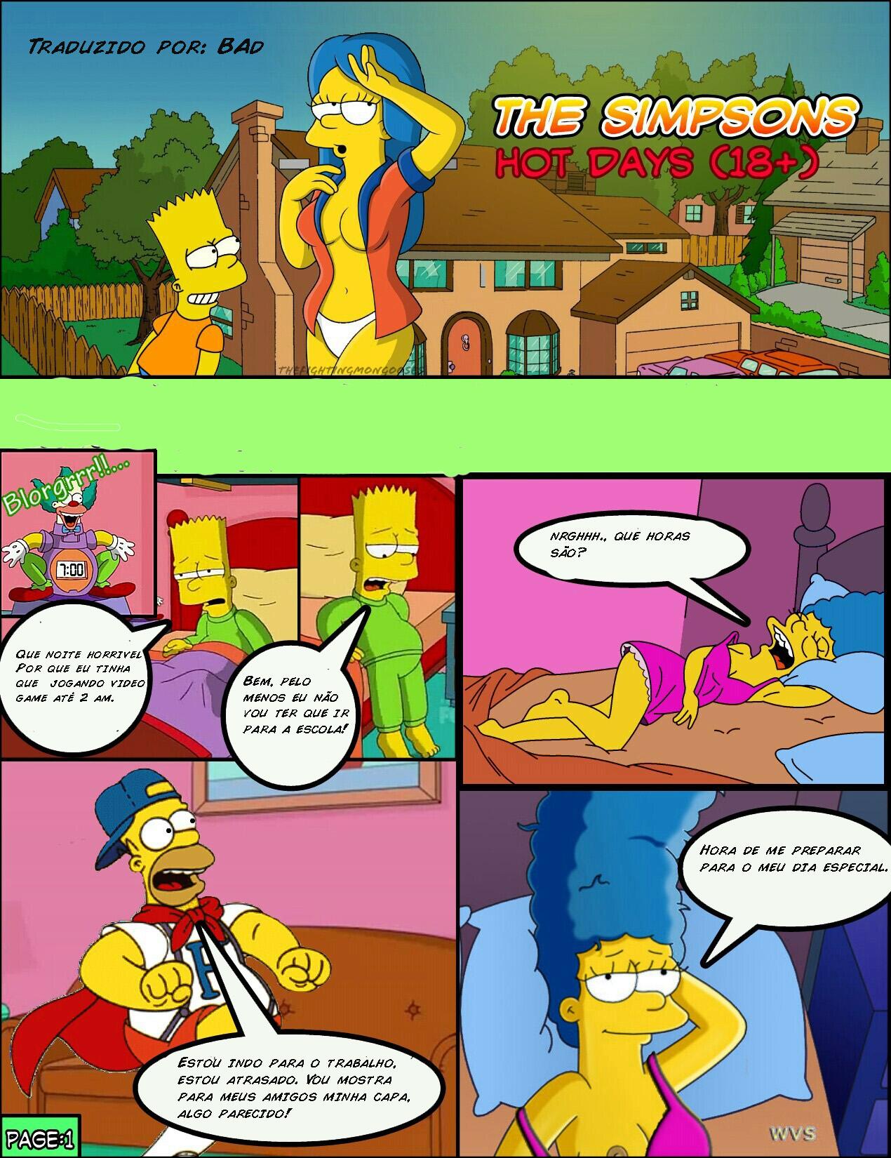 Os Simpsons – Hot days – Quadrinhos Eróticos