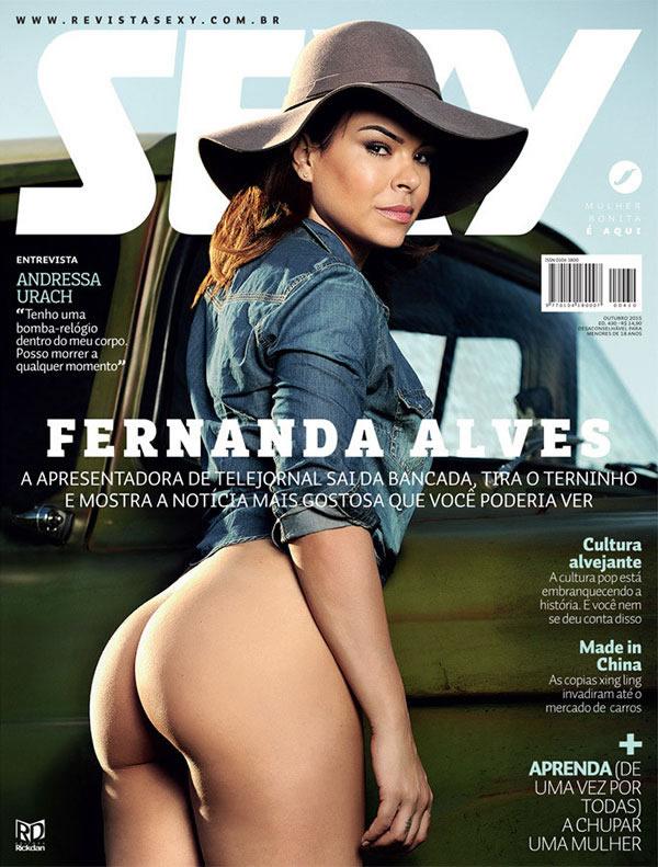 Fernanda Alves Nua na Revista Sexy Outubro 2015