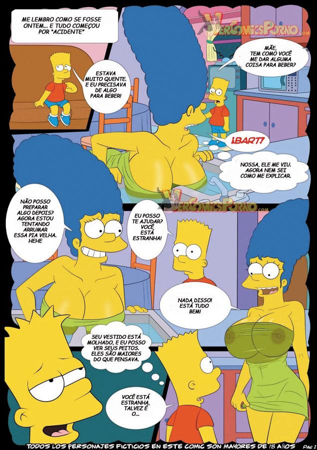 The Simpsons – Incesto Mãe e Filho – Hentai Comics