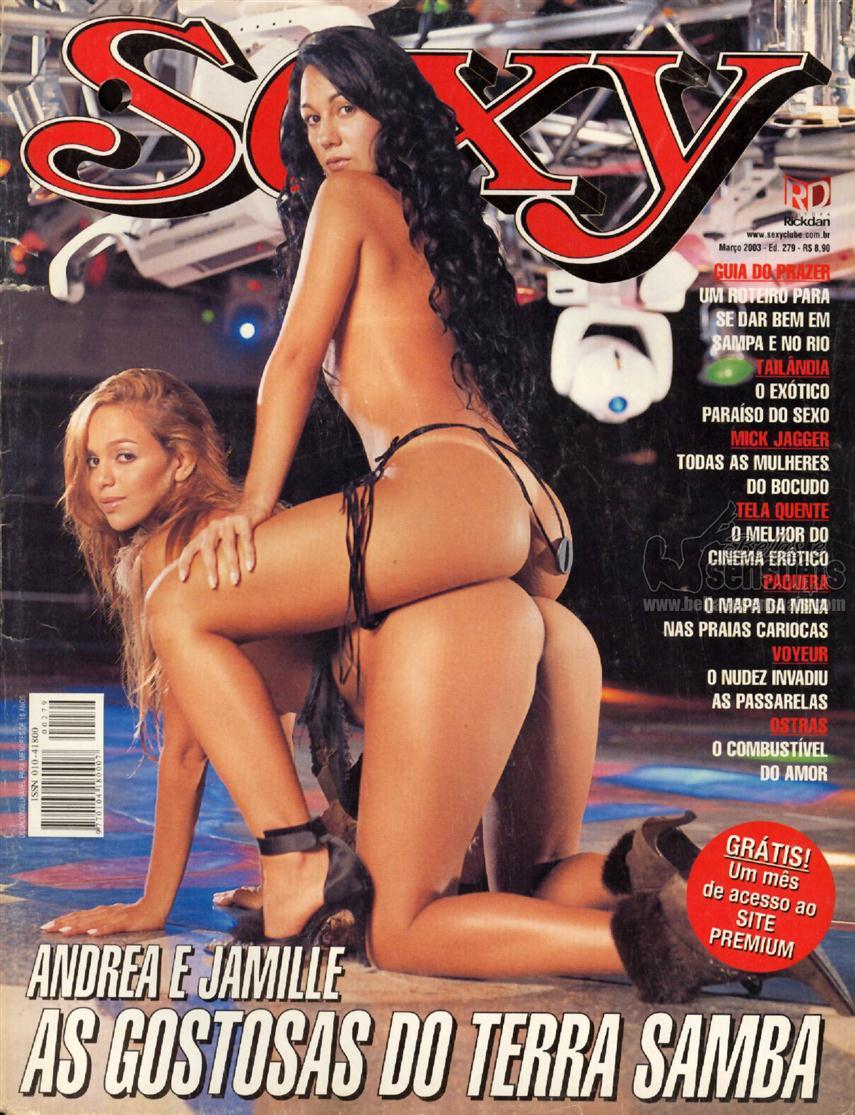 Andrea e Jamille do Terra Samba nuas na Revista Sexy