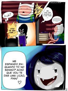 Hora de Aventura – Enfiando o pau na boca da Marceline – HQ Comics