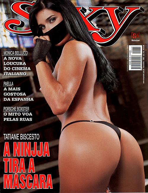 Tatiane Biscesto a Ninja do Funk toda nua na Revista Sexy