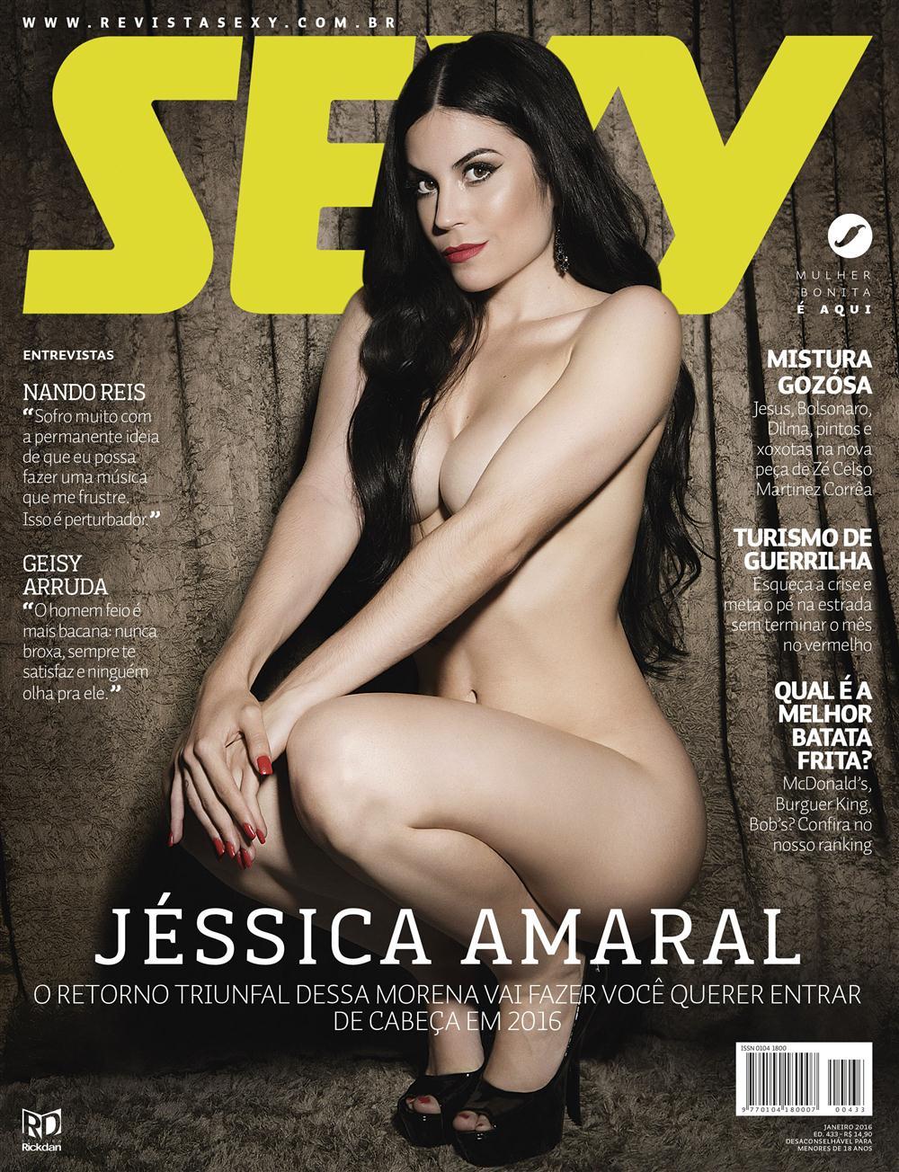 Jessica Amaral Nua na Revista Sexy de janeiro