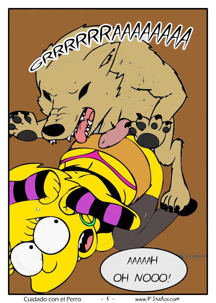 Lisa Simpsons violentada por um Cachorro – Zoo Comics