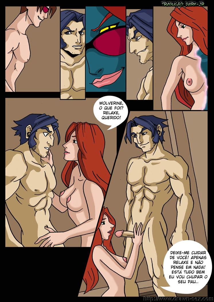 X-Men Evolution – Quadrinhos Eróticos