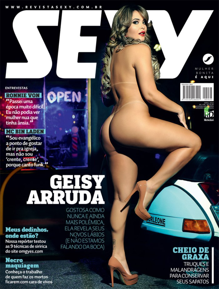 Geisy Arruda Nua – Revista Sexy Abril 2016 completa