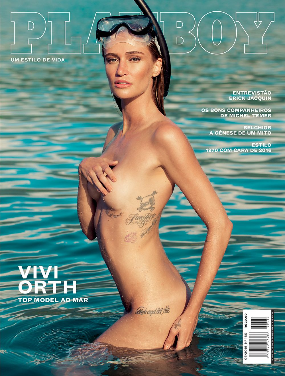 Vivi Orth Nua na Revista Playboy Maio 2016