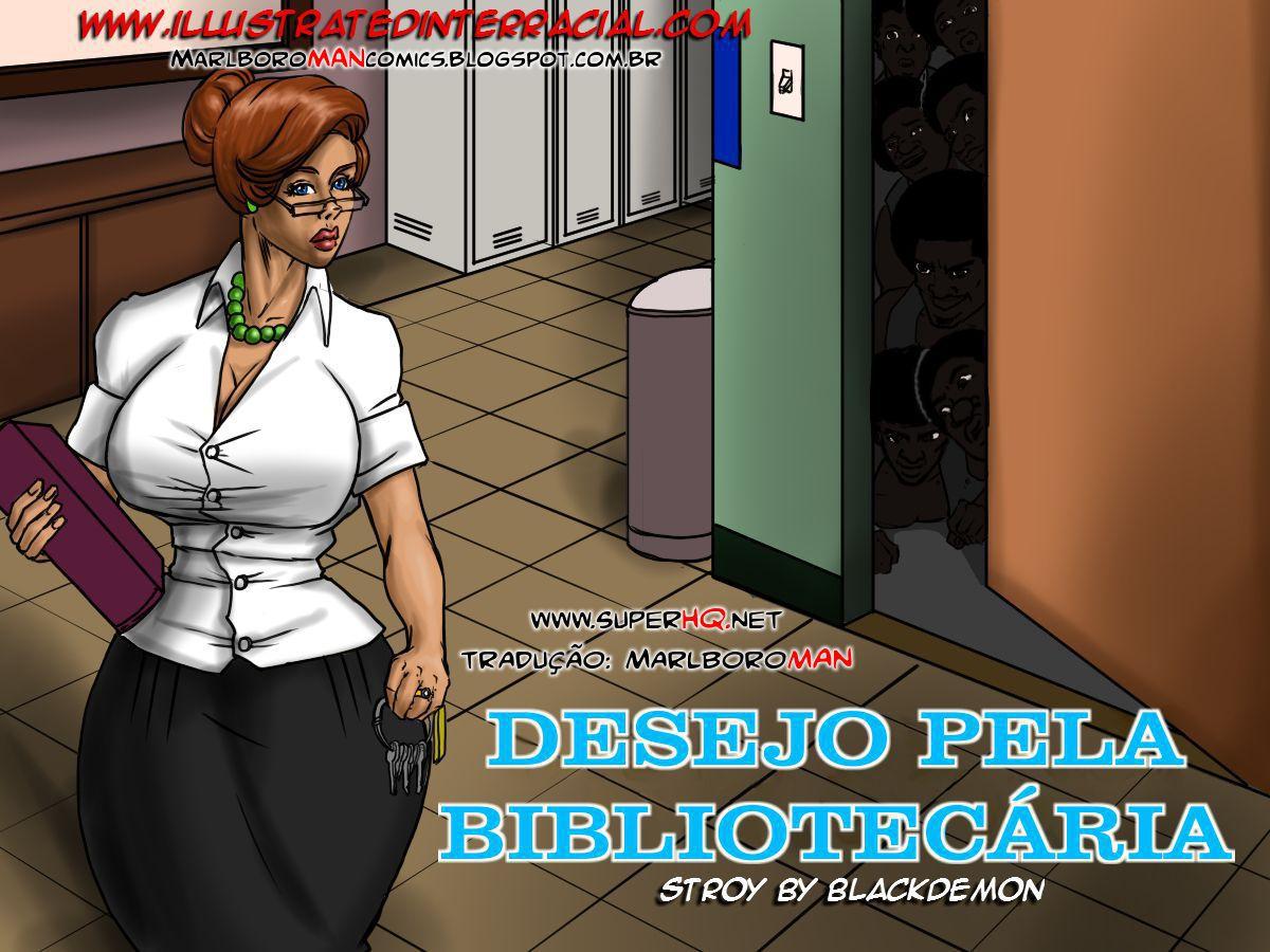 Desejo pela bibliotecária- Interracial