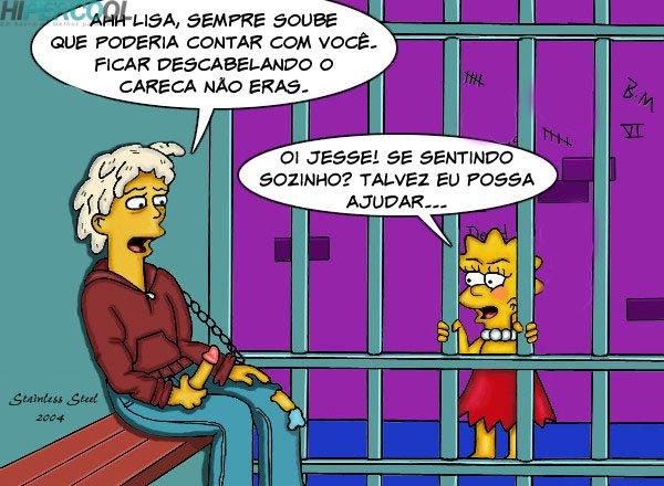 Visita da Lisa Simpsons- Sexo na Prisão