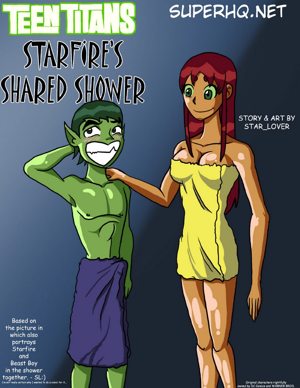 Starfire's Shared Shower – Teen Titans