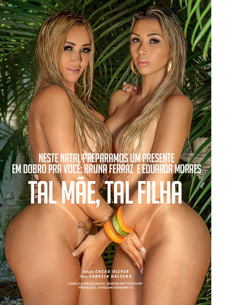 Bruna e Eduarda – Revista Sexy dezembro 2016 Completa!